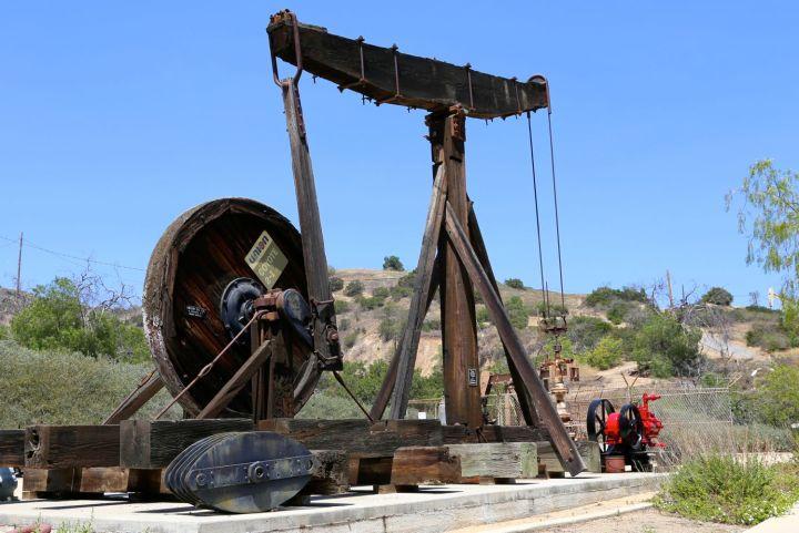 Equipment towering over the Olinda Oil Museum.