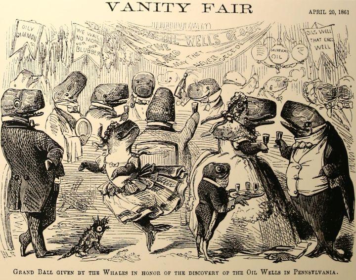 Vanity Fair cartoon commemorating Pennsylvania Oil