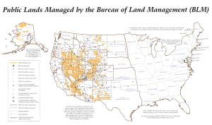 Today, the BLM administers 264 million acres of public lands located primarily in the 12 Western States, including Alaska. The agency manages in addition 300 million acres of subsurface mineral estate located throughout the country. The Montana State Office has jurisdiction over BLM-managed land in North and South Dakota. The New Mexico State Office has jurisdiction over the BLM-managed land in Oklahoma, Kansas, and Texas.  The Oregon State Office has Jurisdiction over BLM-managed land in the State of Washington. The Wyoming State Office has jurisdiction over BLM-managed land in Nebraska. In the Eastern United States, the BLM manages 39.7 million acres of subsurface mineral estate and 30,000 acres of surface, mostly small isolated parcels scattered throughout 31 States. Eastern States are administered by the Eastern States Office in Springfield, VA.