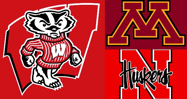 Wisconsin vs Minnesota and Nebraska