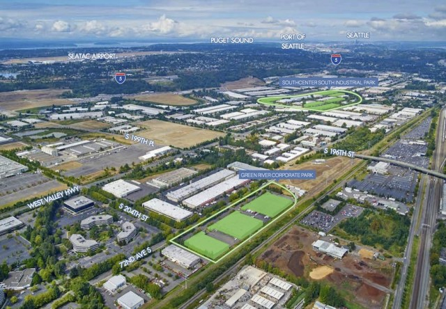 Clarion Partners Kent Barings Real Estate Advisers Cornerstone Real Estate Advisers CBRE Seattle Green River Corporate Park SouthCenter South Industrial Park