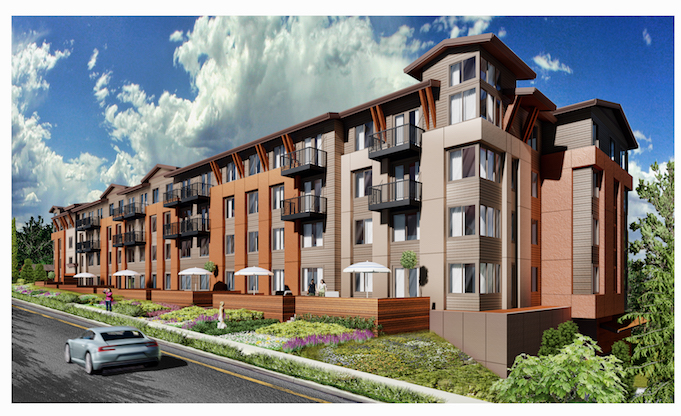 Apartment Building Door mainstreet property group breaks ground on the bond, a 139-unit