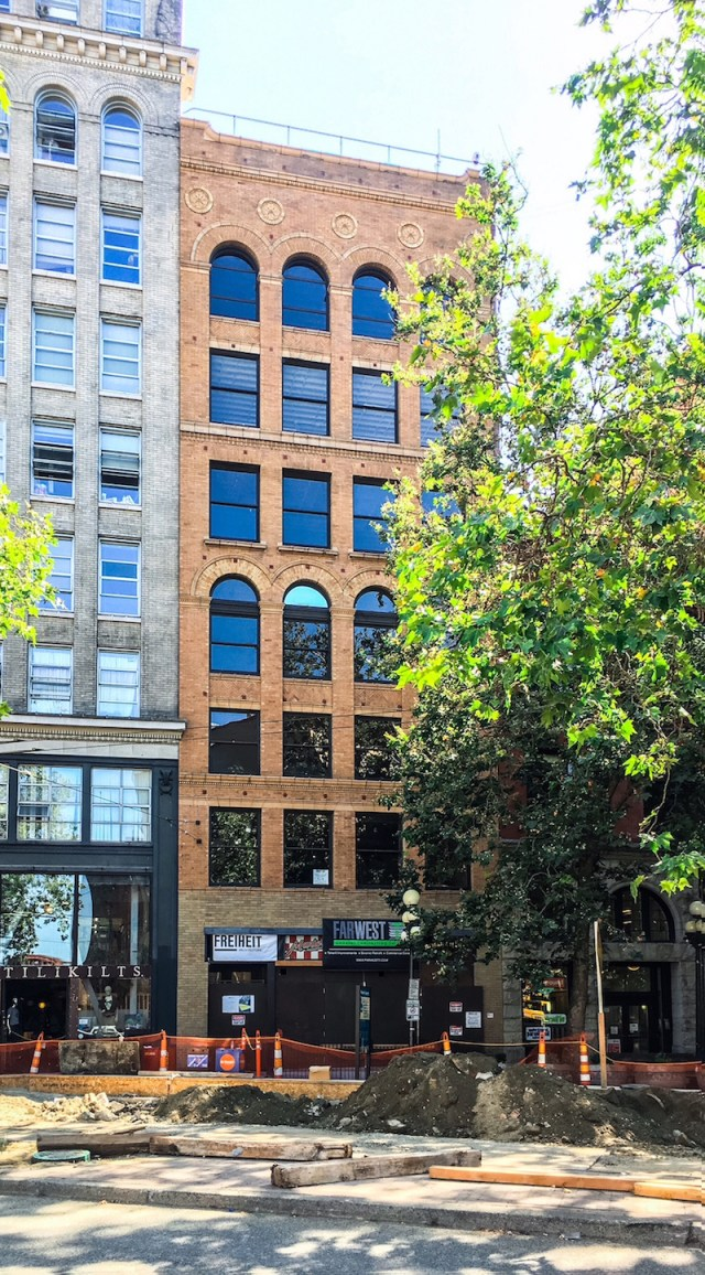 Seattle, Manchester Capital, FREIHEIT Architecture, Swenson Say Faget, Pioneer Square, Lowman and Hanford Building, renovation