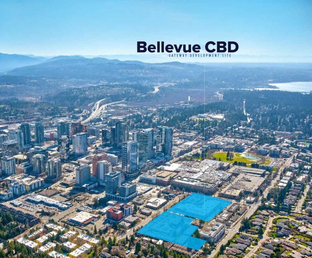 NKF Capital Markets, Bellevue Central Business District Gateway Development Site, Bellevue, Fortin Group, Pinnacle International, Puget Sound, Bellevue CBD Gateway, Newmark Group