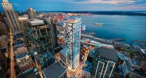 Daniels Create World Seattle, Seattle, Pike Place Market, Emerald, Elliot Bay, Olympic Mountain Range, Rainier Mountain, Space Needle, Hewitt Architects, Polaris Pacific