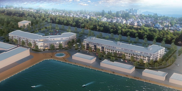 SeaLevel Properties, Everett Waterfront Apartments, Waterfront Place Central, Everett, Fisherman's Harbor, Allied Residential, Puget Sound, Pacific Rim Plaza