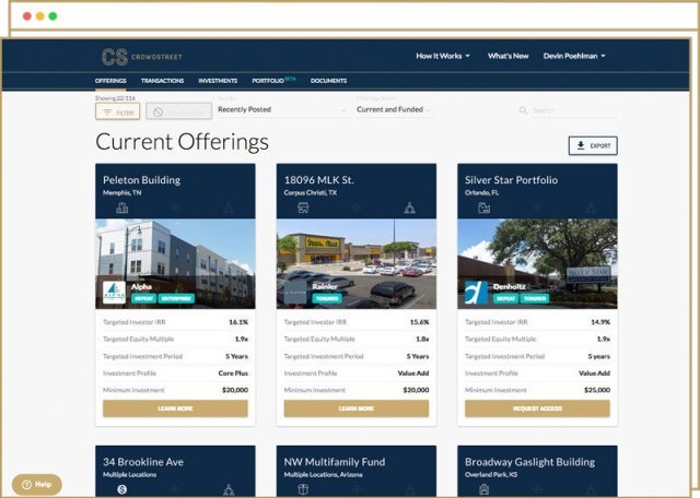 CrowdStreet, Blended Portfolio, JOBS Act, real estate, real estate equity capital