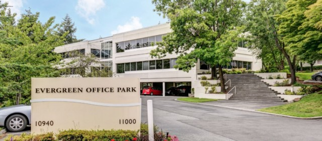 Bellevue, Evergreen Office Park, Kidder Mathews, Newmark Knight Frank, Pacific Coast Capital Partners, Amazon, Google, Facebook, Foster City, Legacy Partners Commercial, King County, PCCP