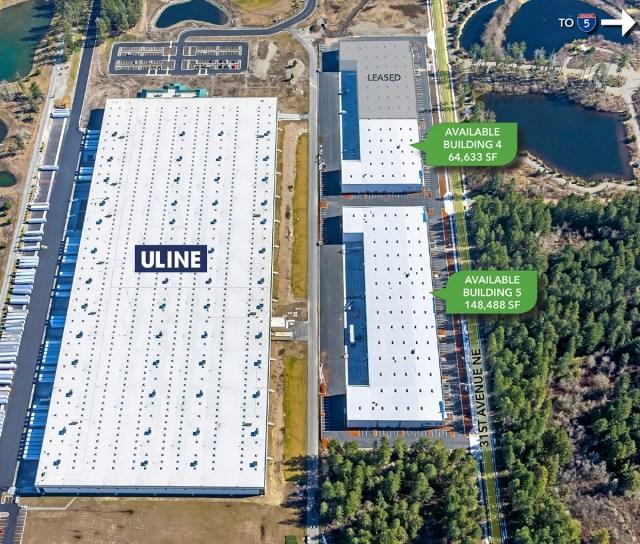 IDS Real Estate Group, WestRock Corporation, Hogum Bay Logistics Center, Lacey, Uline Corporation, Colliers International, Kidder Mathews, Lee & Associates