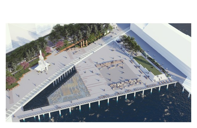 Pier 58, Seattle, Qwalsius-Shaun Peterson, Fitzgerald Fountain, Waterfront for All, Orion Marine Contractors