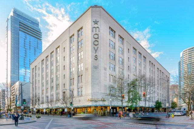 KKR, Urban Renaissance, 300 Pine, Macy's, Starwood Capital Group, Amazon, Seattle, Bon Marche