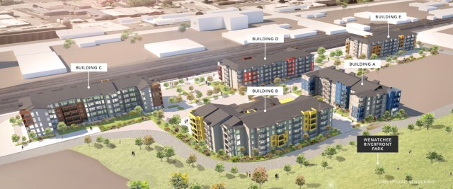 Riverfront Village, Wenatchee, Microsoft, Kidder Mathews, Ananda Company,