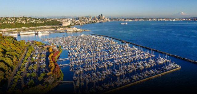 Elliot Bay Marina, Elliot Bay, King County, Seattle, Southern Marinas, Smith Cove, Magnolia, Magnolia Park, Open Access Park, Starla Drum Bench