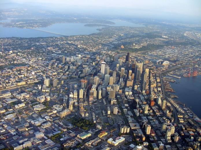 Seattle aerial real estate The Registry