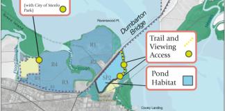 South Bay, Menlo Park, Bay Area, Wetlands, Environmental restoration, San Francisco, San Francisco Bay, South Bay Salt Pond, Ravenswood Ponds