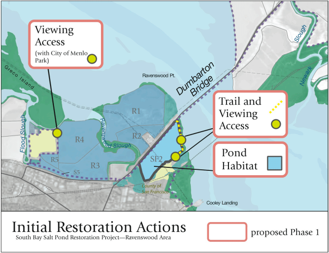South Bay, Menlo Park, Bay Area, Wetlands, Environmental restoration, San Francisco, San Francisco Bay, South Bay Salt Pond, Ravenswood Ponds