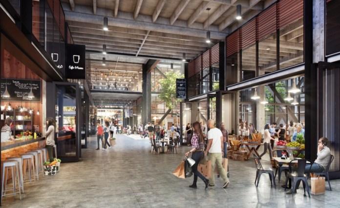 Open market concept design by Gensler | Courtesy of Steelblue