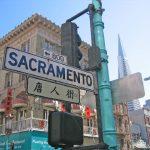 San Francisco street sign Chinese