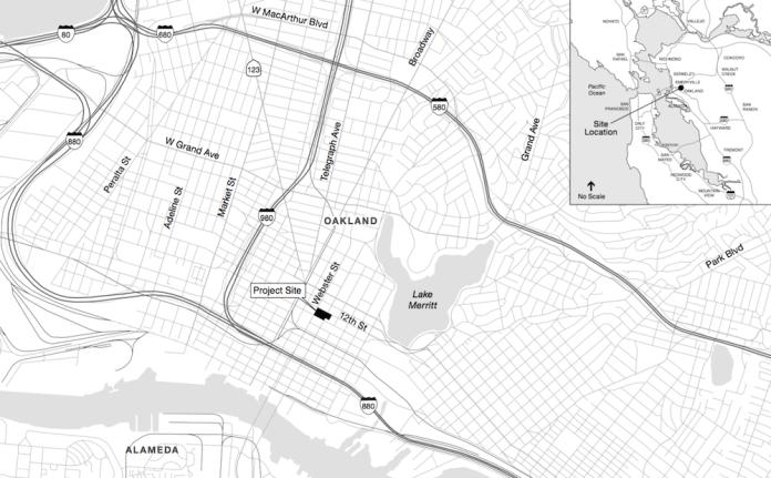 Oakland Emerge Development LLC VTBS Architects BKF Engineers TGP Inc. Lincoln Square Park Lake Merritt Station Area Plan BART Chinatown Mixed-Use