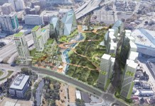 San Jose, Swenson Buillders, Silicon Valley, SAP Center, The District, Guadalupe River Walk plan, CMG Landscape Architecture