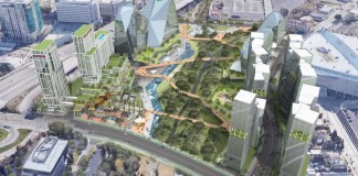 San Jose, Swenson Buillders, Silicon Valley, SAP Center, The District, Guadalupe River Walk plan, CMG Landscape Architecture