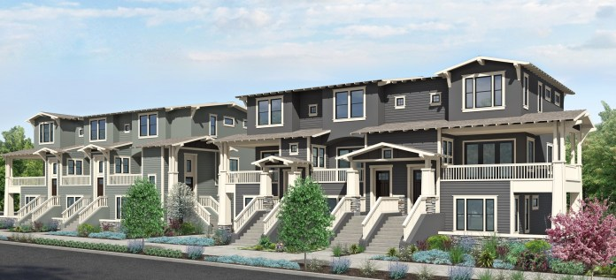 Third Street Napa Development, Register Square, Downtown Napa, European Shaker style, townhomes, contemporary and craftsman inspired architecture