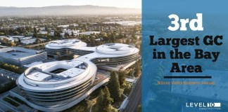 Bay Area, Sunnyvale, Level 10 Construction, Silicon Valley Business Journal, San Francisco Business Times, Alameda, Contra Costa, Marin, Monterey, Napa, San Benito, San Francisco, San Mateo, Santa Clara, Santa Cruz, Solano, Sonoma