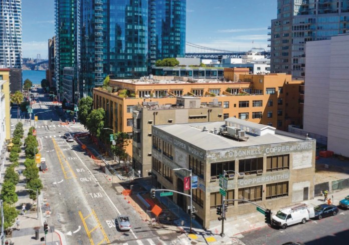 Copper Works Building, San Francisco, South Financial District, CBRE, E.M. O'Donnell Copper Works, Salesforce, LinkedIn, The Avery, Lumina, Solaire