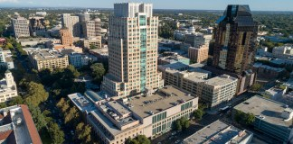 Park Tower Sacramento KBS Prime US REIT OXMU Newmark Knight Frank Greenberg Taurig Hines GEM Realty Capital