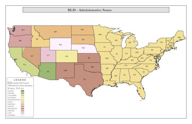 BLM Administration State Map