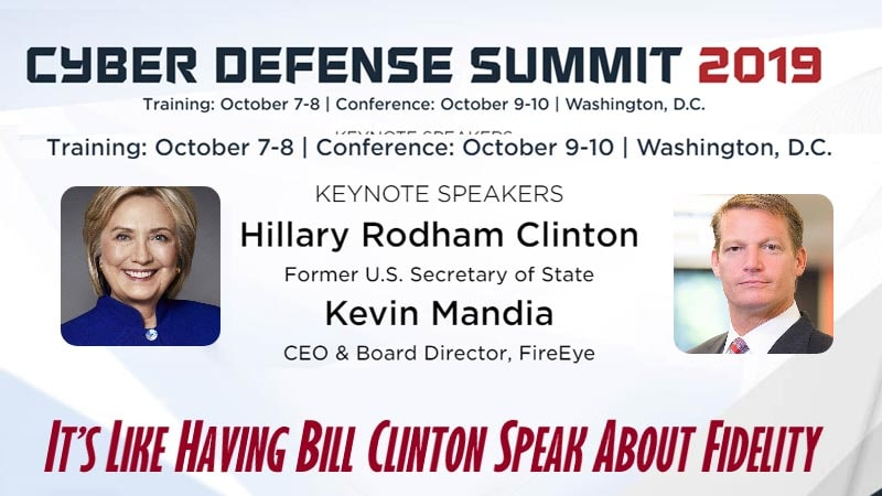 Hillary Clinton Cyber Defense Summit 2019-min