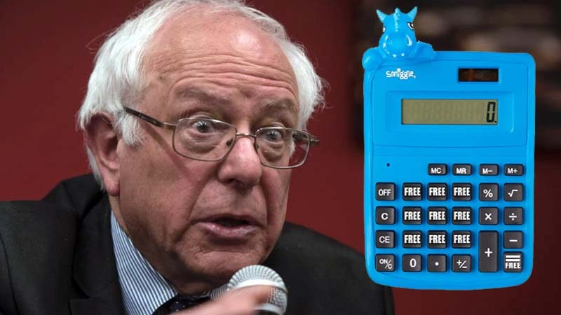Bernie Sanders Free, NOT FREE Calculator-min