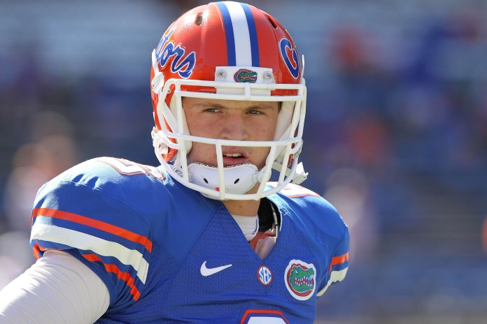 Florida Gators quarterback Jeff Driskel (6) warms up prior to the game against the South Carolina Gamecocks at Ben Hill Griffin Stadium. Photo Credit: Kim Klement-USA TODAY Sports