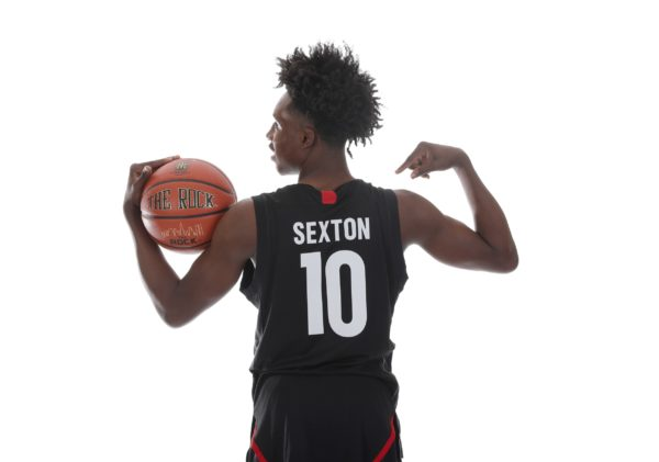 Mar 26, 2017; Chicago, IL, USA; McDonalds High School All-American guard Collin Sexton (10) poses for a photo during the 2017 McDonalds All American Game Portrait Day at Chicago Marriott. Mandatory Credit: Brian Spurlock-USA TODAY Sports