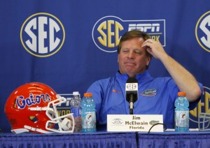 Florida Gators head coach Jim McElwain. Photo Credit: Brett Davis-USA TODAY Sports