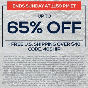 Get up to 65% off at TideFansStore.com (Sunday 10/22 only!)