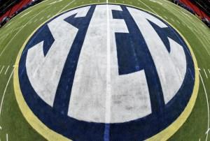 SEC Logo. Credit: John David Mercer-USA TODAY Sports