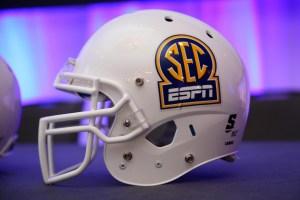 SEC Helmet - Photo: Jason Getz-USA TODAY Sports