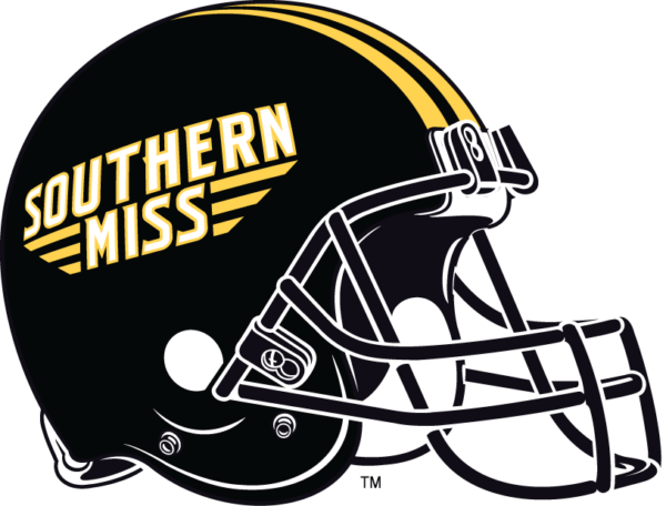 Southern Miss Golden Eagles helmet