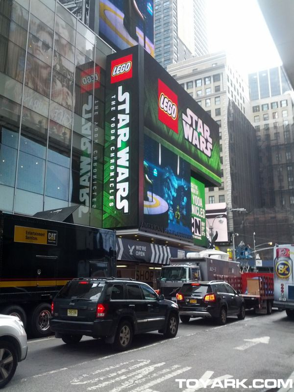 Lego Unveils Star Wars And Huge In Times Square