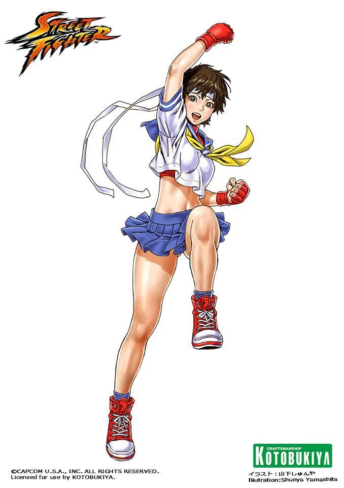 Street Fighter Sakura Bishoujo Art