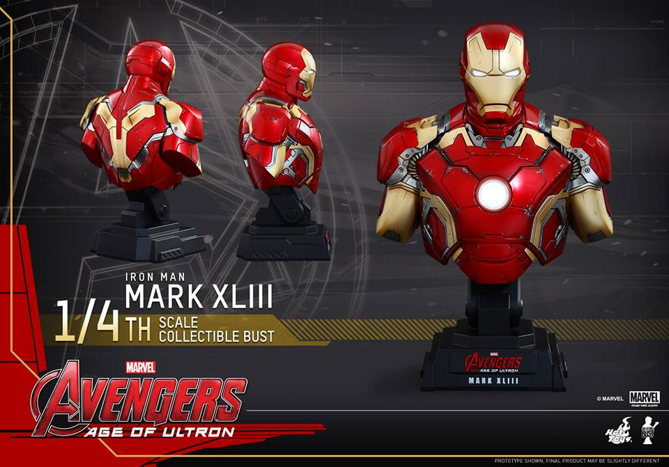 Avengers Age of Ultron Quarter Scale Iron Man Bust 1