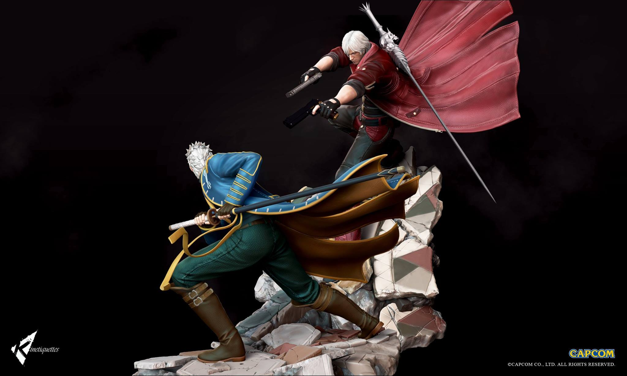 Umvc3 Wallpaper Girls Devil May Cry Sons Of Sparda Diorama Statues By