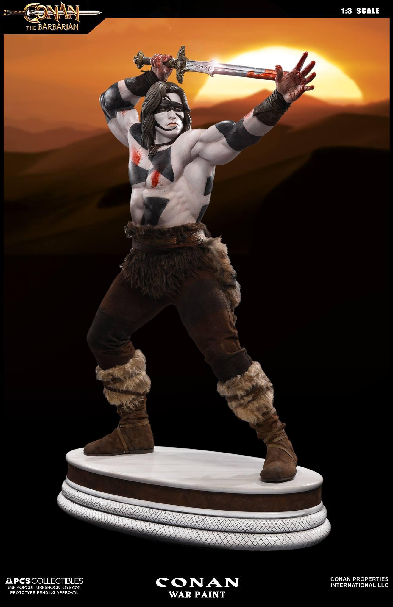 PCS Conan Statue Warpaint 001