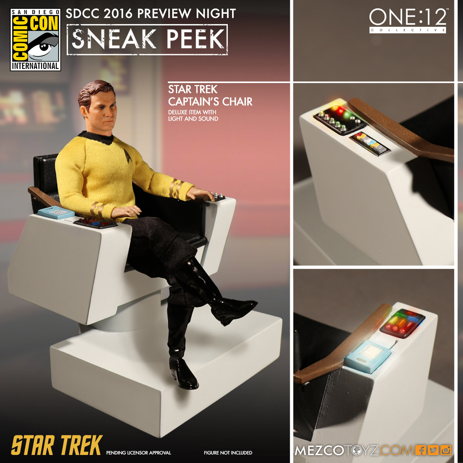 Mezco One12 Collective Star Trek Captain Chair