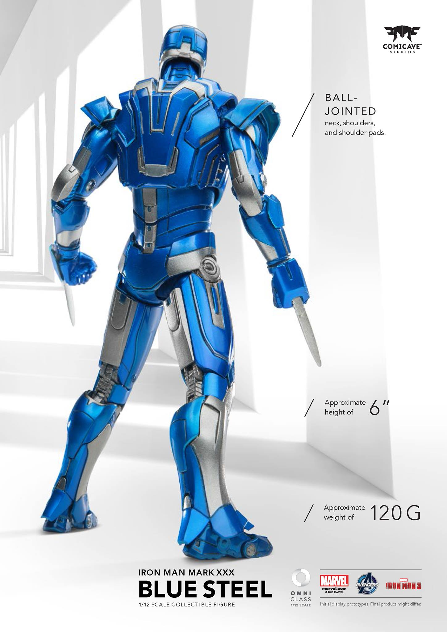 Comicave Iron Man Blue Steel 003