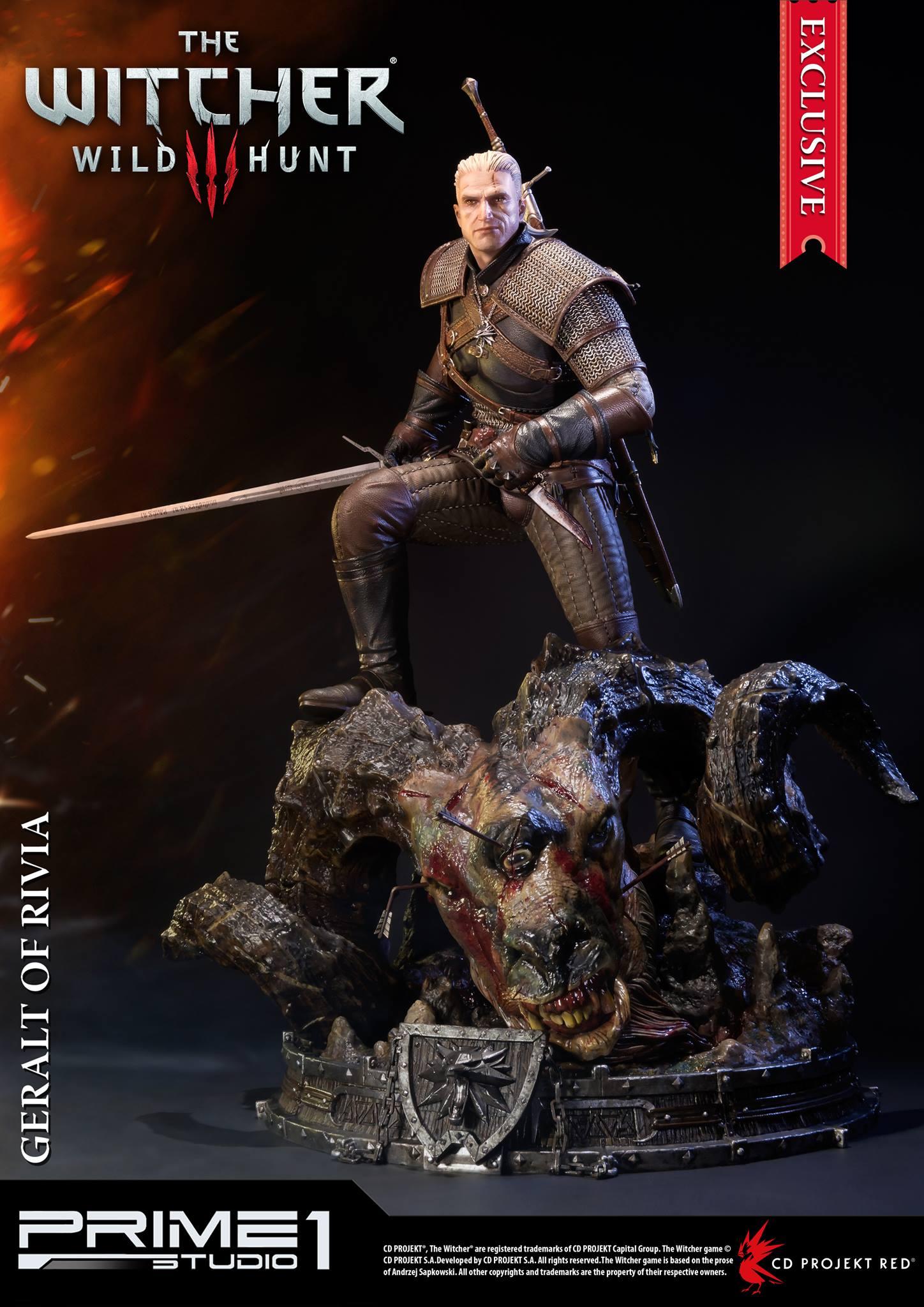 Geralt De Riv The Witcher 1 : geralt, witcher, Witcher, Geralt, Rivia, Statue, Prime, Studio, Toyark
