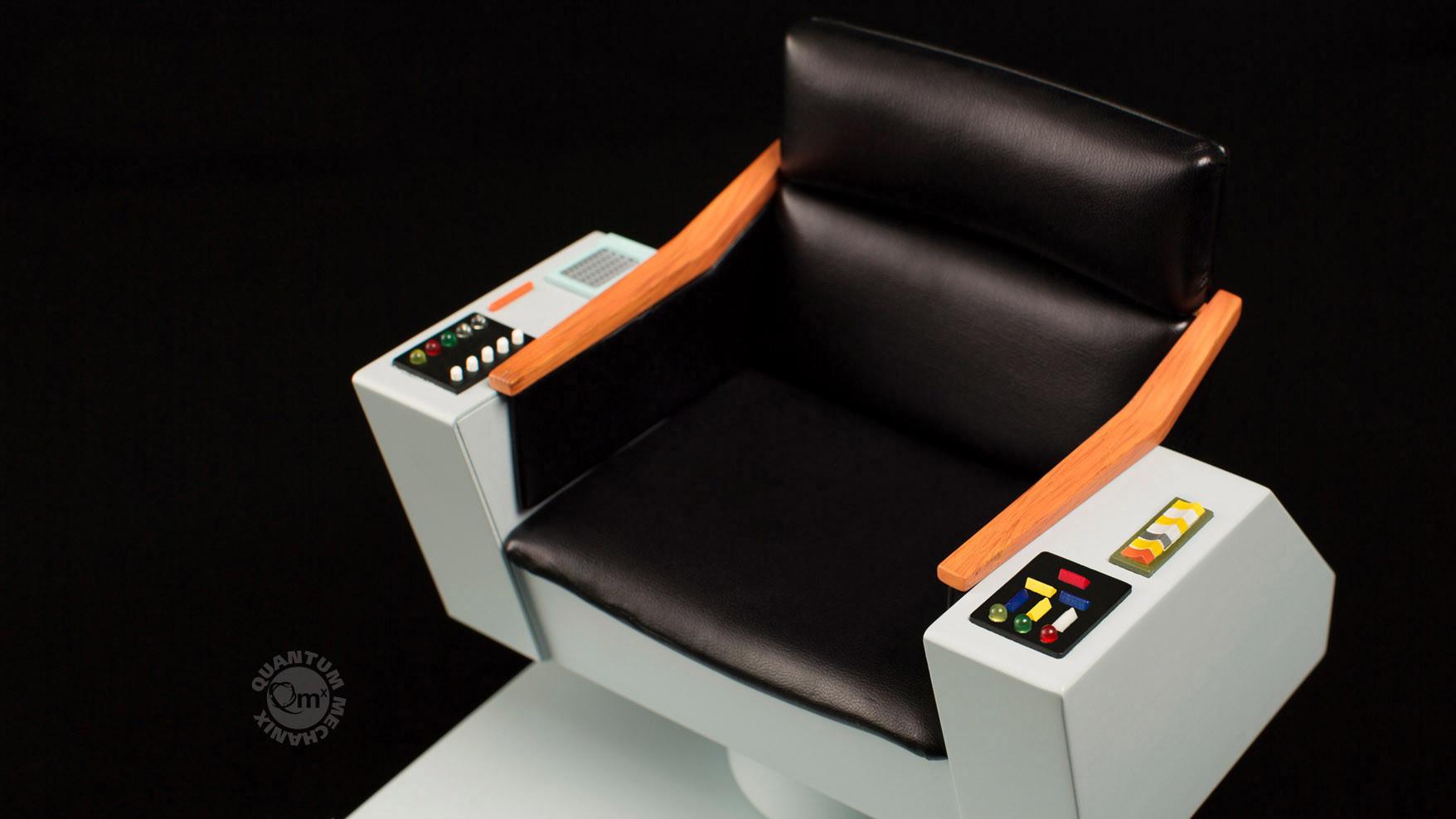 star trek captains chair pantone folding the original series 1 6 scale captain 39s