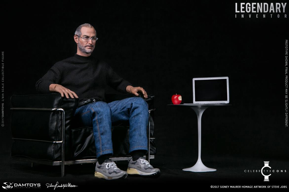 pvc lounge chair modern swivel steve jobs figure 1/6 scale by damtoys - the toyark news