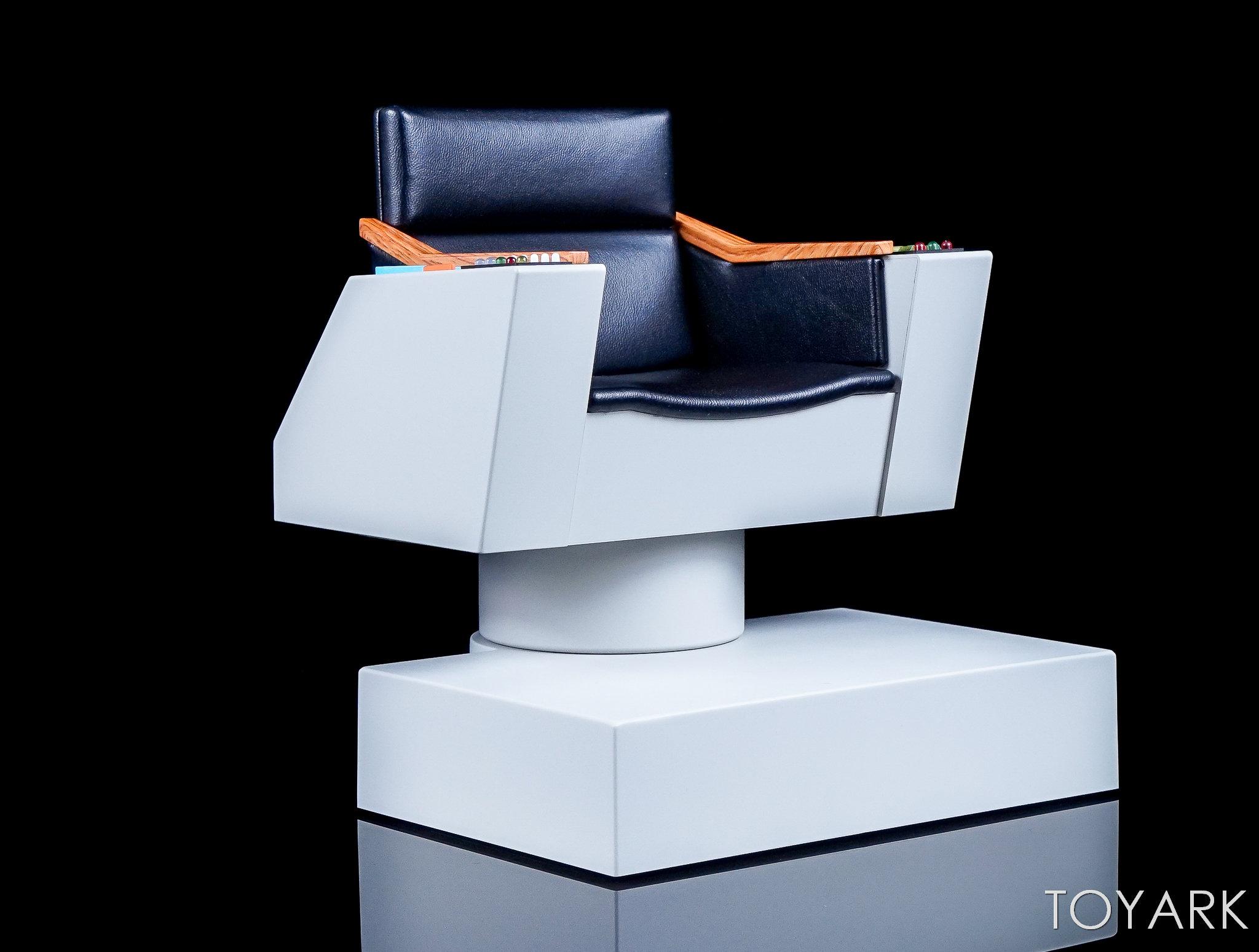 star trek captains chair office stool qmx the original series 1 6 scale captain 39s